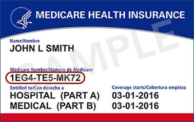 a sample medicare card